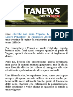 Newsletter Delos Digital Francesco Avella Non è Vegano
