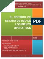 El Control de Estado de Uso de Los Bienes Operativos