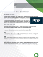CEC - Ocean Power Fact Sheet