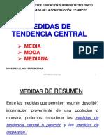 Presentacion Medidas de Tendencia Central