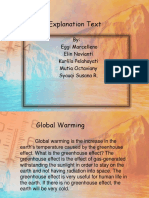 Explanation Text Global Warming