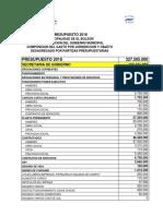 Presupuesto M.E.B. 2018