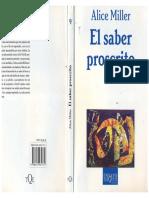 Alice Miller El Saber Proscrito