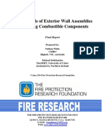 FireHazardsofExteriorWallAssembliesContainingCombustibleComponents- Nfpa Report