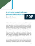 O Método Quantitativo Na Pesquisa Em Direito