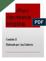 APA Para Citas y Referencias