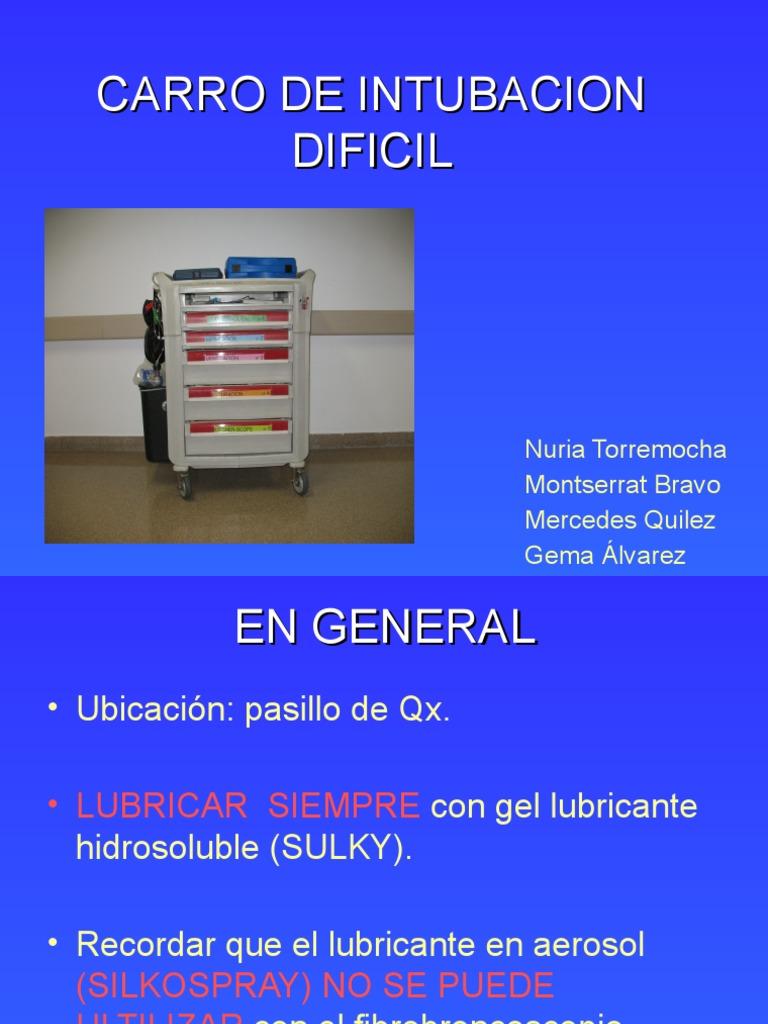 lubricante hidrosoluble para intubacion