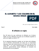 Tema 9 El Alfabeto y Los Colores