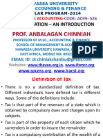 Unit-I Taxation by Prof. Anbalagan Chinniah PPT