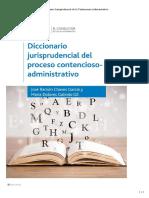 ADMIN Diccionario Jurisprudencial de Lo Contencioso-Administrativo INDICE