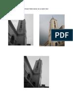 Picado Torre Iglesia de La Santa Cruz