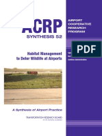 ACRP Synthesis 52 – Habitat Management to Deter Wildlife at Airports