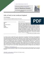 C. M. Woolgar; Gifts of Food in Late Medieval England