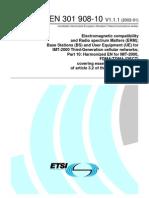 ETSI EN 301 908-10 v1.1.1