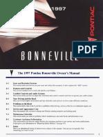 1997 Pontiac Bonneville Owners Manual