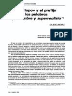 BATAILLE, Georges. El 'viejo topo' y el prefijo sur en las palabras surhomme y surrealiste.pdf