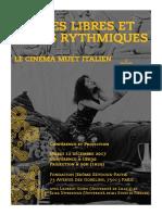 FLYER DEF Danses Libres Cine Muet Italien