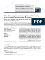 Effect of Annealing Temperature on Photocatalytic Activity