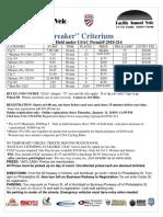 Ontario Ice Breaker Criterium 2018