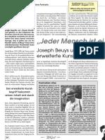 Joseph Beuys Und Der Erweiterte Kunstbegriff