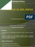 Planejamento Da Acao Didatica