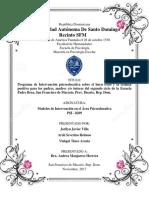 Practica Final - Creaccion de Un Programa de Intervencion Psicoeducativa, Maestria en Psi Escolar, Modelos de Intervencion