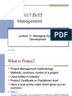 Lecture 11 - Managing Systems Development