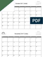 India October 2017 - December 2018