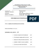Ejemplo de Sistema de Ecuaciones