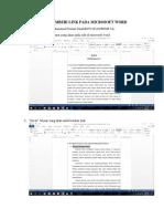 3. Tutorial Microsoft Word
