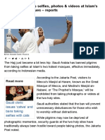 Saudi Arabia Bans Selfies, Photos & Videos at Islam's Two Holiest Mosques – RT World News