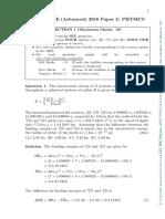 IIT JEE Physics 2016 Paper 2