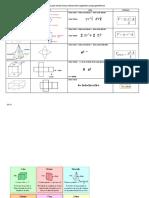 Fórmulas Para Calcular Área y Volumen de Los Siguientes Cuerpos Geométricos