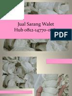 WA +62 812 1477 0264 Jual Sarang Burung Walet Kalimantan
