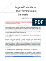 10 Things to Know About Wrongful Termination in Colorado