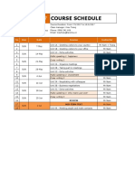 HND994-017 - Course Schedule