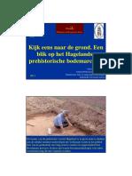 Kijk Eens Naar de Grond. Een Blik Op Het Hagelandse Prehistorische Bodemarchief