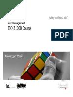 Aubsi-risk Management Iso 31000 Ppt AMITY JAIPUR BBA