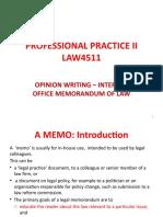 Topic 7 - Internal Memorandum of Law