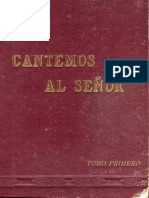 Cantemos Al Amor de Los Amores (PARTITURA y LETRA) (Cantemos Al Señor, Tomo I, 1921, Pp 103 y 104)