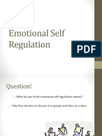 Lesson 6 Emotional Self Regulation