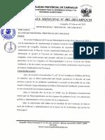 Ord. Del Plan y Agenda Nº 01