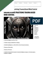 Organizations Practicing Trauma-Based Mind Control