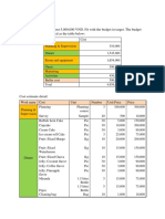 Cost and Procurement Planning