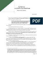 Tip Sheet on Exam Writing