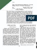 Snyder Et Al. 1977 Social Perception and Interpersonal Behavior