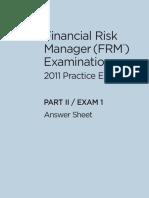 GARP FRM Practice Exam 2011 Level2