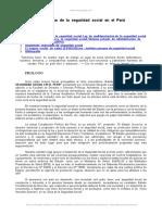 Derecho Seguridad Social Peru