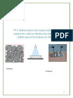 Masse Volumique Apparente ,Réelle Et Absolue Des Matériaux Utilisés - Copie