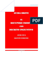 Manuale Guida Breve Recupero Crediti Decreto Ingiuntivo 1.0